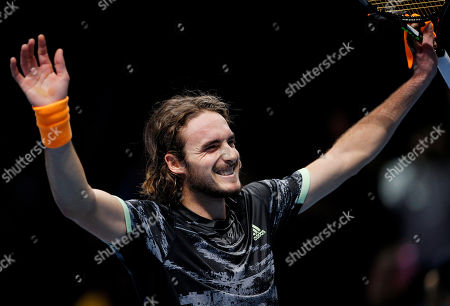 Stefanos Tsitsipas of Greece celebrates