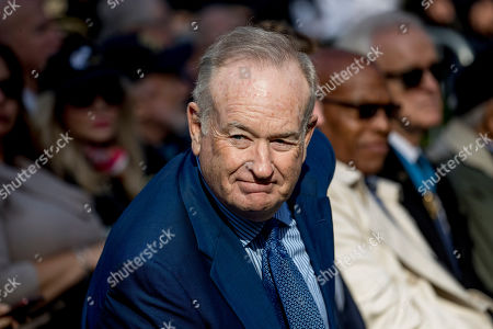 Stock Image of Bill O'Reilly. Bill O'Reilly, right, arrives before President Donald Trump and first lady Melania Trump participate in a wreath laying ceremony at the New York City Veterans Day Parade at Madison Square Park, in Washington