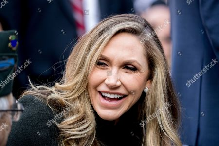 Lara Yunaska Trump, the wife of Eric Trump, the son of President Donald Trump, arrives before President Donald Trump and first lady Melania Trump participate in a wreath laying ceremony at the New York City Veterans Day Parade at Madison Square Park, in Washington