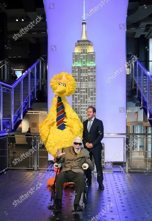 Editorial photo of Sesame Street's Big Bird Lights the Empire State Building, New York, USA - 08 Nov 2019