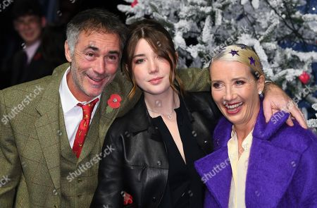 Stock Image of Greg Wise, Gaia Wise and Emma Thompson