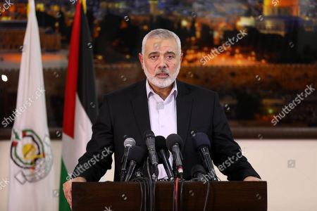 Palestinian Hamas chief in the Gaza strip Ismail Haniyeh