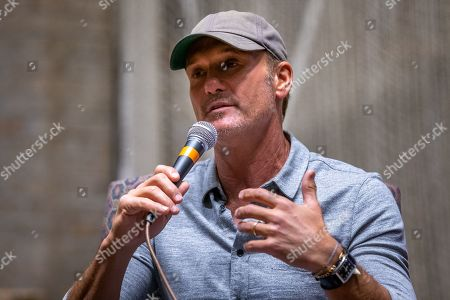 Editorial picture of 'Grit & Grace' a conversation with Tim McGraw, First Baptist Church, Austin, Texas, USA - 08 Nov 2019