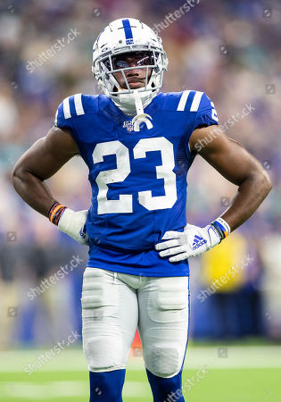 Indianapolis Colts cornerback Kenny Moore (23) during NFL football game action between the Miami Dolphins and the Indianapolis Colts at Lucas Oil Stadium in Indianapolis, Indiana. Miami defeated Indianapolis 16-12