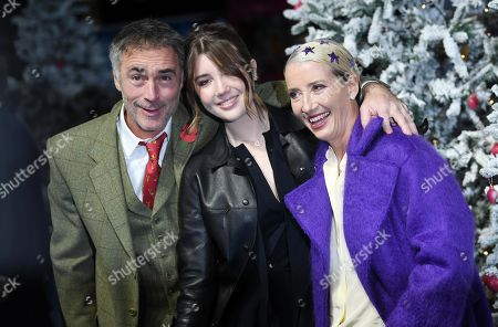 Stock Picture of Greg Wise, his wife British screenwriter and actress/cast member Emma Thompson and their daughter Gaia Romilly Wise attend the UK Premiere of 'Last Christmas' at the BFI Southbank in London, Britain, 11 November 2019. The movie is released in British theatres on 15 November 2019.
