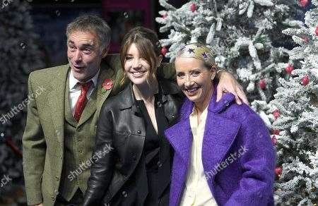 Stock Photo of Greg Wise, his wife British screenwriter and actress/cast member Emma Thompson and their daughter Gaia Romilly Wise attend the UK Premiere of 'Last Christmas' at the BFI Southbank in London, Britain, 11 November 2019. The movie is released in British theatres on 15 November 2019.