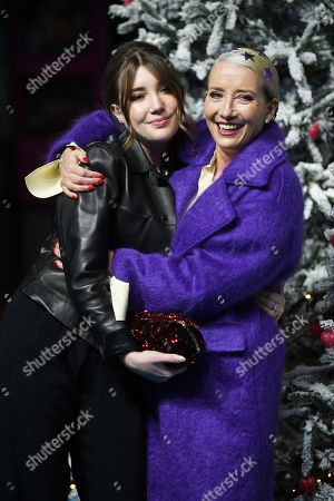 Emma Thompson (R) and daughter Gaia Romilly Wise (L) attend the UK Premiere of 'Last Christmas' at the BFI Southbank in London, Britain, 11 November 2019. The movie is released in British theatres on 15 November 2019.