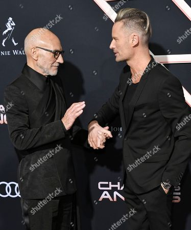 Stock Photo of Sir Patrick Stewart and Brian Tyler
