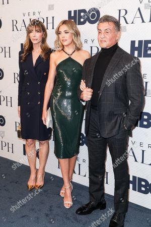Sistine Rose Stallone, Sylvester Stallone, Jennifer Flavin