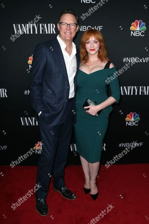Matthew Lillard and Christina Hendricks