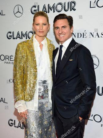 Karolina Kurkova, Archie Drury. Karolina Kurkova and husband Archie Drury attend the Glamour Women of the Year Awards at Alice Tully Hall, in New York