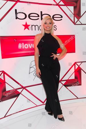 Stock Picture of Bebe Rexha, the new face of Bebe, poses during an appearance at Macy's Herald Square, in New York