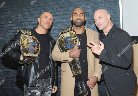 Stock Picture of Frankie Kazarian and Scorpio Sky and Christopher Daniels