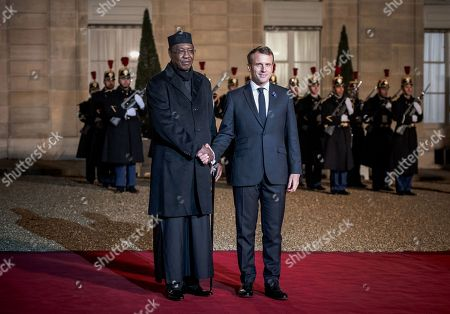 President of Chad, Idriss Deby, meets French President, Emmanuel Macron, as Heads of State and Government, as well as the leaders of international organizations, participate in the 2nd Forum on Peace at the Elysee Palace.