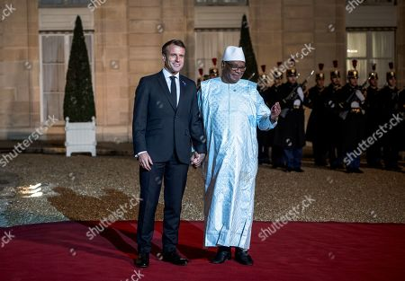 President of Mali Ibrahim Boubacar Keita meets French President Emmanuel Macron as Heads of State and Government, as well as the leaders of international organizations, participate in the 2nd Forum on Peace at the Elysee Palace.