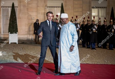 President of Mali, Ibrahim Boubacar Keita, meets French President, Emmanuel Macron, as Heads of State and Government, as well as the leaders of international organizations, participate in the 2nd Forum on Peace at the Elysee Palace.