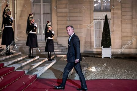 French politician Jean-Baptiste Lemoyne participates in the 2nd Forum on Peace at the Elysee Palace.