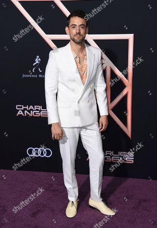 """Luis Gerardo Mendez arrives at the Los Angeles premiere of """"Charlie's Angels"""" at the Regency Theater Westwood on"""