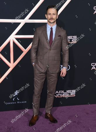 """Jonathan Tucker arrives at the Los Angeles premiere of """"Charlie's Angels"""" at the Regency Theater Westwood on"""