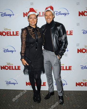 """Keytt Lundqvist, left, and Alex Lundqvist attend a special screening of """"Noelle"""", hosted by Disney+ with The Cinema Society, at the SVA Theatre, in New York"""