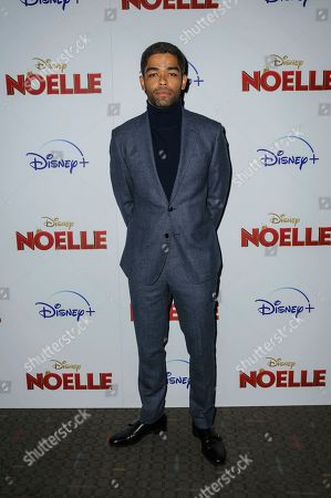 "Kingsley Ben-Adir attends a special screening of ""Noelle"", hosted by Disney+ with The Cinema Society, at the SVA Theatre, in New York"