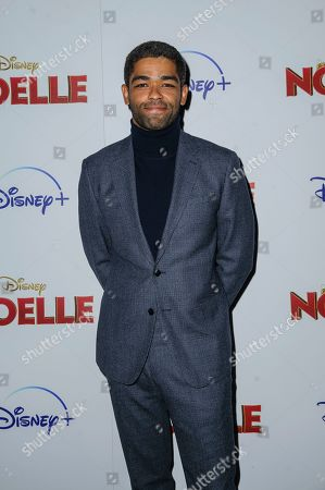 "Stock Image of Kingsley Ben-Adir attends a special screening of ""Noelle"", hosted by Disney+ with The Cinema Society, at the SVA Theatre, in New York"