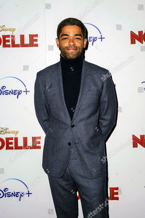 "Stock Photo of Kingsley Ben-Adir attends a special screening of ""Noelle,"" hosted by Disney+ with The Cinema Society, at the SVA Theatre, in New York"