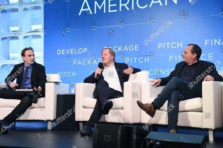 Michael Schneider, Senior Editor, TV Awards, Variety, Brad Krevoy, CEO, Motion Picture Corporation of America and Paul Bales, Partner, The Asylum