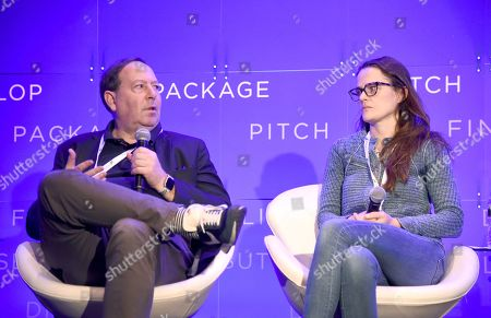 Stock Image of Josh Braun, Co-President, Submarine Entertainment and Alexandra Johnes, Producer, Very Special Projects