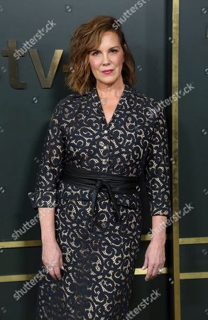 """Elizabeth Perkins attends the LA Premiere of """"Truth Be Told,"""" at the Samuel Goldwyn Theater, in Beverly Hills, Calif"""