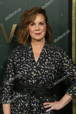 """Elizabeth Perkins attends the LA Premiere of """"Truth Be Told"""" at the Samuel Goldwyn Theater, in Beverly Hills, Calif"""
