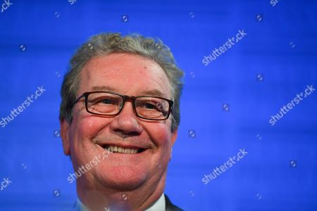 Stock Photo of Former Australian High Commissioner to Britain Alexander Downer delivers an address to the National Press Club in Canberra, Australia, 12 November 2019.