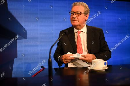 Stock Picture of Former Australian High Commissioner to Britain Alexander Downer prepares to deliver an address to the National Press Club in Canberra, Australia, 12 November 2019.