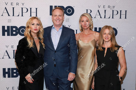 "Stock Picture of Rachel Zoe, Robert Greenblatt, Elaine Irwin, Jessica Levin. Rachel Zoe, on left, Robert Greenblatt, Elaine Irwin, Jessica Levin attend the HBO premiere of ""Very Ralph"" at the Paley Center for Media on in Beverly Hills, Calif"