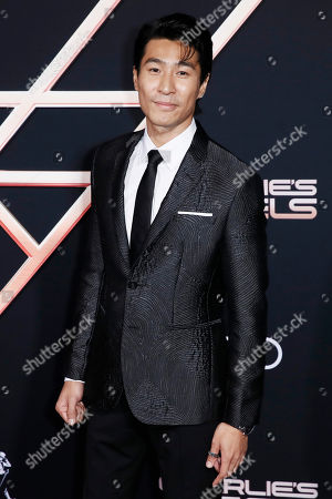 Chris Pang poses on the red carpet during the premiere of 'Charlie's Angels' at the Westwood Regency Theater in Los Angeles, California, USA, 11 November 2019. The movie is to be released in US theaters on 15 November.
