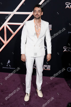 Luis Gerardo Mendez poses on the red carpet during the premiere of 'Charlie's Angels' at the Westwood Regency Theater in Los Angeles, California, USA, 11 November 2019. The movie is to be released in US theaters on 15 November.