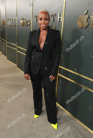Haneefah Wood at the Apple TV+ global premiere of the original series 'Truth Be Told' at the Samuel Goldwyn Theater on November 21, 2019 in Los Angeles, California. 'Truth Be Told' debuts December 6 exclusively on Apple TV+.