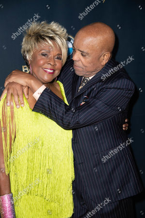 Thelma Houston and Berry Gordy attend the Ryan Gordy Foundation 60 Years of Motown Celebration at the Waldorf Astoria in Beverly Hills