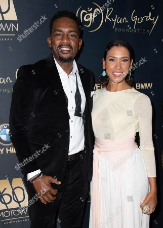 Bill Bellamy and wife Kristen Baker Bellamy attend the Ryan Gordy Foundation 60 Years of Motown Celebration at the Waldorf Astoria in Beverly Hills