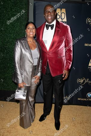 Cookie Johnson and Magic Johnson attend the Ryan Gordy Foundation 60 Years of Motown Celebration at the Waldorf Astoria in Beverly Hills