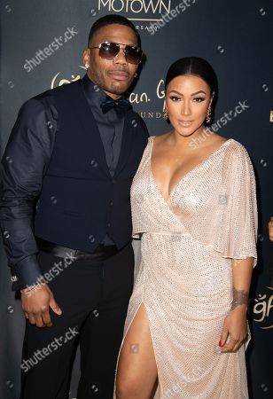 Nelly and Shantel Jackson attend the Ryan Gordy Foundation 60 Years of Motown Celebration at the Waldorf Astoria in Beverly Hills
