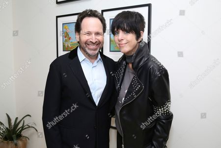 "Barry Avrich, Diane Warren. Director/writer Barry Avrich and Diane Warren seen at a screening and Q&A of ""Prosecuting Evil"" at the Ross House, in Los Angeles"
