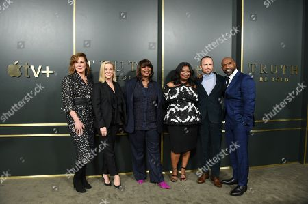 Elizabeth Perkins, Reese Witherspoon, Executive Producer, Nichelle Tramble Spellman, Showrunner/Writer/Executive Producer, Octavia Spencer, Executive producer, Aaron Paul and Michael Beach