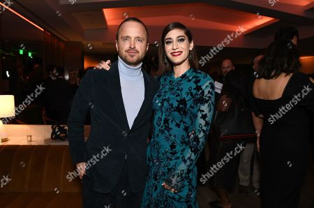 Aaron Paul and Lizzy Caplan