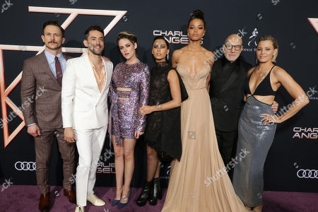 Jonathan Tucker, Luis Gerardo Mendez, Kristen Stewart, Naomi Scott, Ella Balinska, Sir Patrick Stewart and Elizabeth Banks