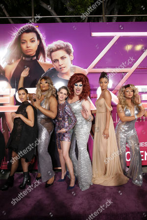 Stock Picture of Naomi Scott, Peppermint, Kristen Stewart, Nina West, Ella Balinska and Farrah Moan