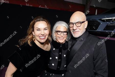 Sunny Ozell, Elizabeth Cantillon and Sir Patrick Stewart