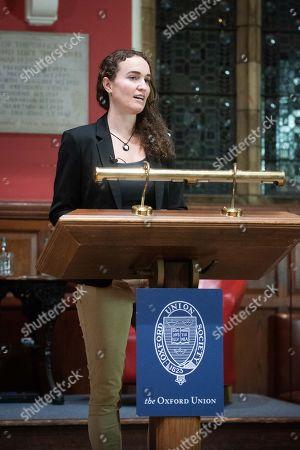 Editorial image of Megan Phelps-Roper at the Oxford Union, UK - 11 Nov 2019