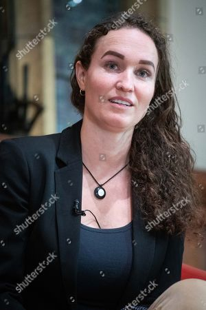 Former member of the Westboro Baptist Church Megan Phelps-Roper speaking at Oxford Union