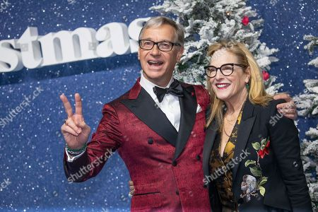 Paul Feig, Laurie Feig. Paul Feig and Laurie Feig pose for photographers upon arrival at the premiere of the film 'Last Christmas' in London